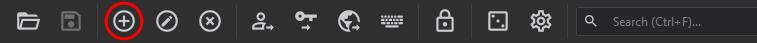 KeePassXC toolbar